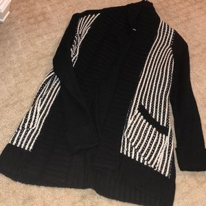 NWT nordstrom RDI black and white knit cardigan